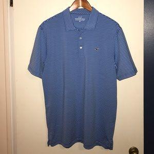 Vineyard Vines blue Striped Polo